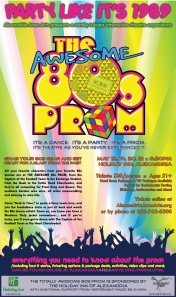 Poster artwork for Awesome 80s Prom Interactive Theatre
