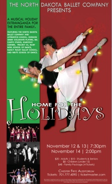 Poster Artwork and photography for Holiday Ballet Concert
