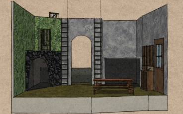 Set Design for Bat Boy: The Musical