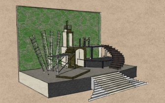 Set Design Drawing for HAIR