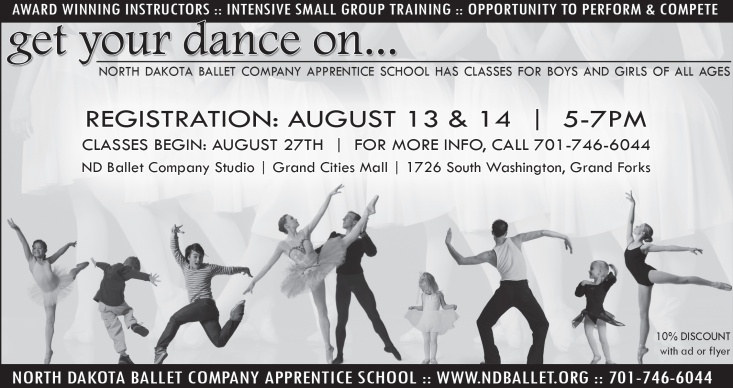 Advertising artwork for Ballet Apprentice School