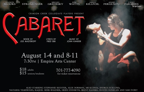 Poster Artwork for Cabaret (and photography)