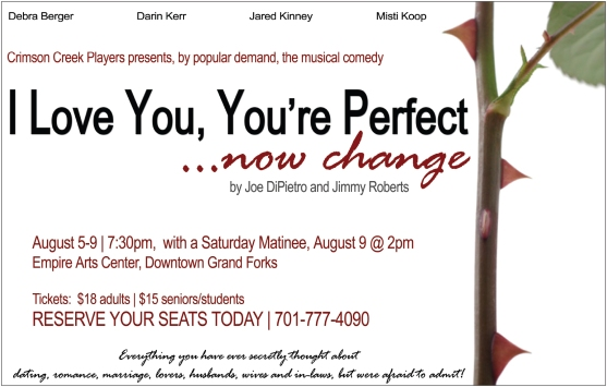 Poster Artwork for I Love You, You're Perfect, Now Change