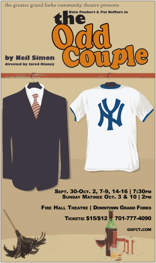 Poster Artwork for The Odd Couple