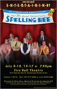 Poster Art for The 25th Annual Putnam County Spelling Bee