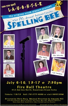 Poster Artwork for The 25th Annual Putnam County Spelling Bee