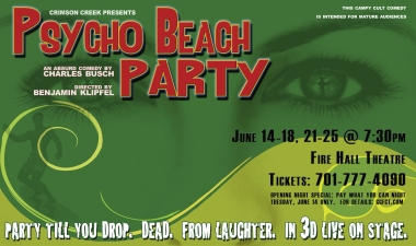 Poster Art for Psycho Beach Party