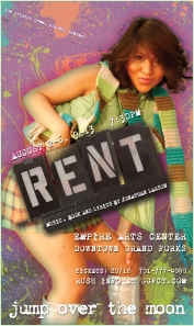 RENT Poster Art for Maureen (A unique poster was created for each character/cast member for this production of RENT)