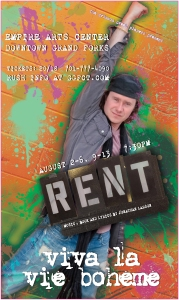 RENT Poster Art for Steve (A unique poster was created for each character/cast member for this production of RENT)