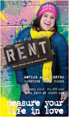 RENT Poster Art for Bag Lady (A unique poster was created for each character/cast member for this production of RENT)