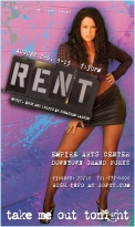 RENT Poster Art for Mimi (A unique poster was created for each character/cast member for this production of RENT)