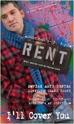RENT Poster Art for Tom Collins (A unique poster was created for each character/cast member for this production of RENT)