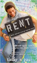 RENT Poster Art for Angel (A unique poster was created for each character/cast member for this production of RENT)