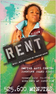 RENT Poster Art for Seasons of Love Soloist (A unique poster was created for each character/cast member for this production of RENT)