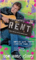 RENT Poster Art for Roger (A unique poster was created for each character/cast member for this production of RENT)