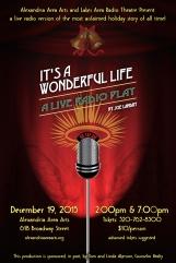 It's A Wonderful Life Radio Play Poster Art